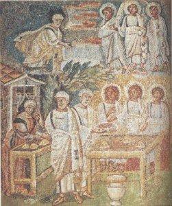 Hospitalite-d-Abraham--mosaiques-de-Sainte-Marie-Majeure-
